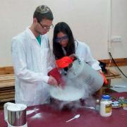 תלמידי תכנית אלפא העבירו הפנינג מדעי בקריית שמונה