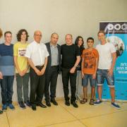 תלמידי אוניברסיטת תל אביב לנוער עם שר החינוך וגיל שוייד